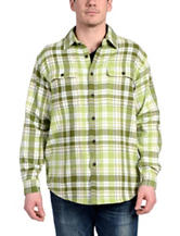 Stanley Multicolor Herringbone Plaid Flannel Shirt