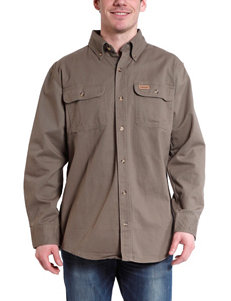 Stanley Olive Casual Button Down Shirts