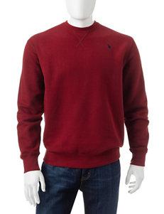 U.S. Polo Assn. Red Zip-Ups