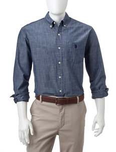 U.S. Polo Assn. Chambray Casual Button Down Shirts
