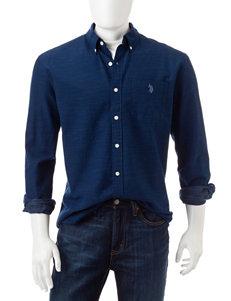 U.S. Polo Assn. Navy Casual Button Down Shirts