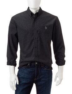 U.S. Polo Assn. Black Casual Button Down Shirts