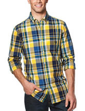 Chaps Gingham Plaid Print Shirt