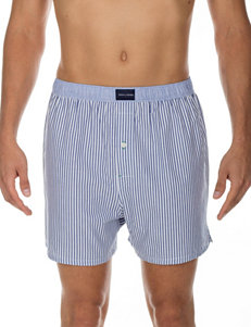 Tommy Hilfiger Blue & White Striped Print Woven Boxers