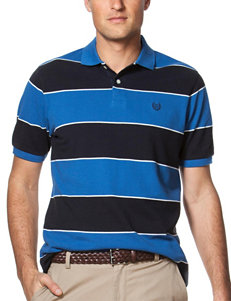 Chaps Rugby Striped Print Polo Shirt