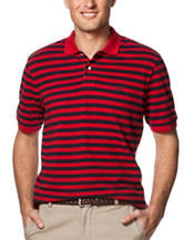Chaps Striped Print Polo Shirt