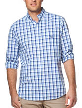 Chaps Plaid Print Poplin Woven Shirt