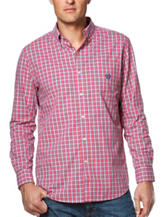 Chaps Madras Plaid Print Shirt