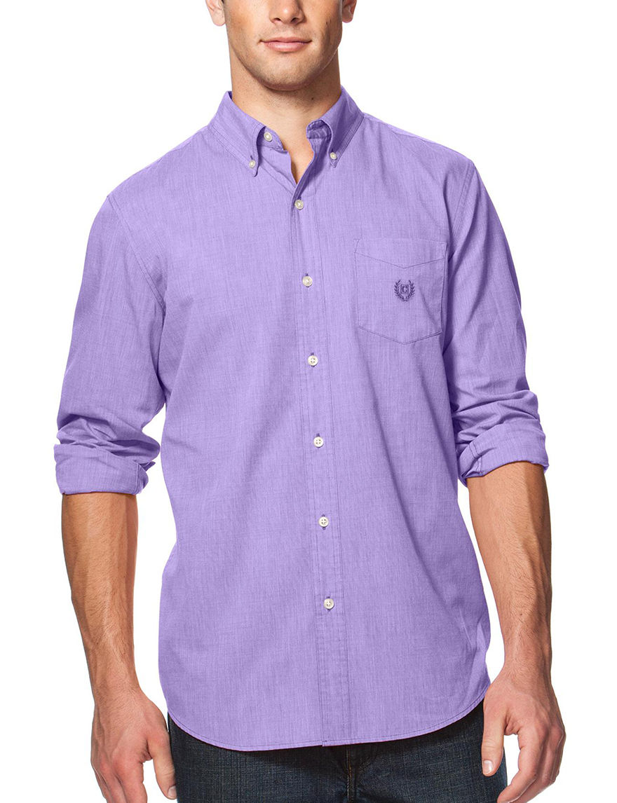 Chaps Purple Casual Button Down Shirts