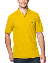 Chaps Men's Big & Tall Yellow Pique Polo Shirt