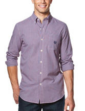 Chaps Big & Tall Easy Care Tattersall Print Shirt