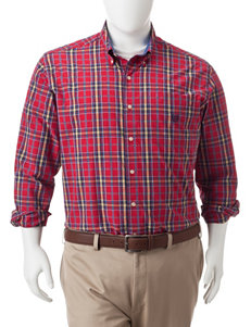 Chaps Chaps Red Casual Button Down Shirts
