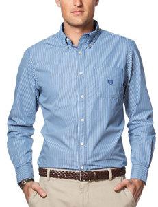 Chaps Blue Casual Button Down Shirts