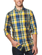 Chaps Men's Big & Tall Easy Care Plaid Woven Shirt