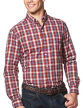 Chaps Big & Tall Wine Plaid Print Shirt