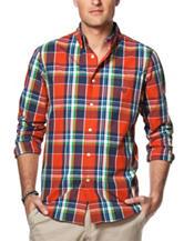 Chaps Big & Tall Multicolor Plaid Print Shirt