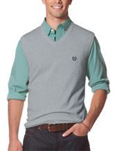 Chaps Men's Big & Tall Steel Grey Sweater Vest