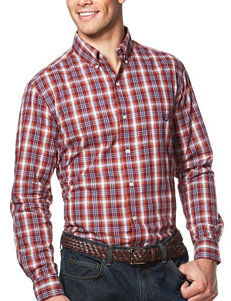 Chaps Wine Casual Button Down Shirts