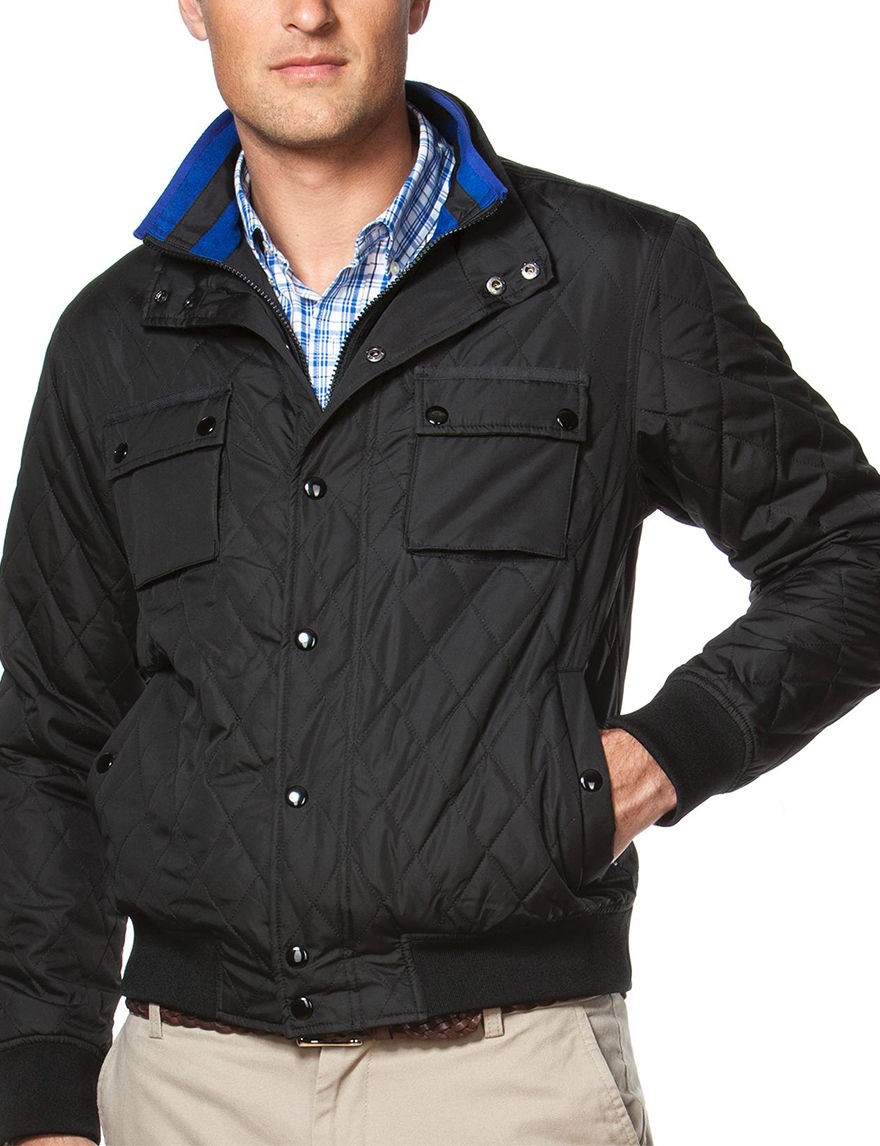 Chaps Black Puffer & Quilted Jackets