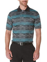 PGA Tour® Striped Print Polo Shirt