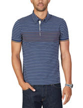 Nautica Striped Print Polo Shirt