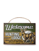 American Expedition Welcome to the Hunting Lodge Sign