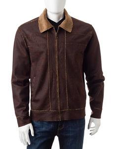 Whispering Smith Brown Lightweight Jackets & Blazers