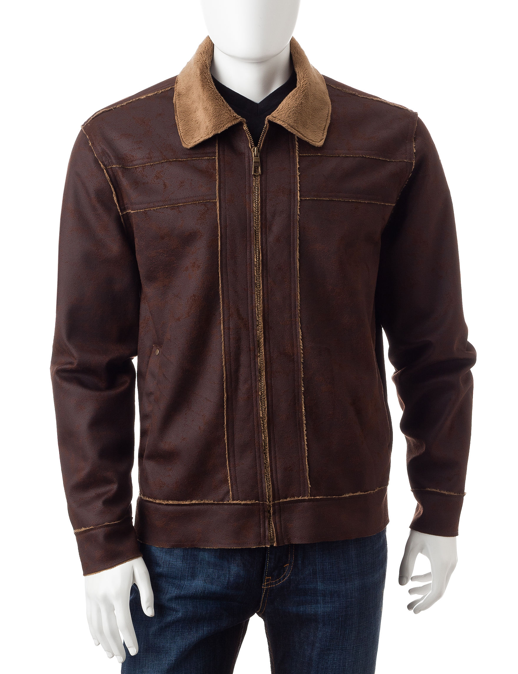 Whispering Smith Brown Lightweight Jackets & Blazers
