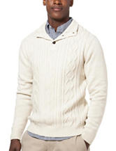 Chaps Solid Button Sweater