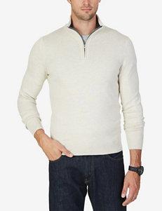 Nautica Solid 1/4 Zip Pullover