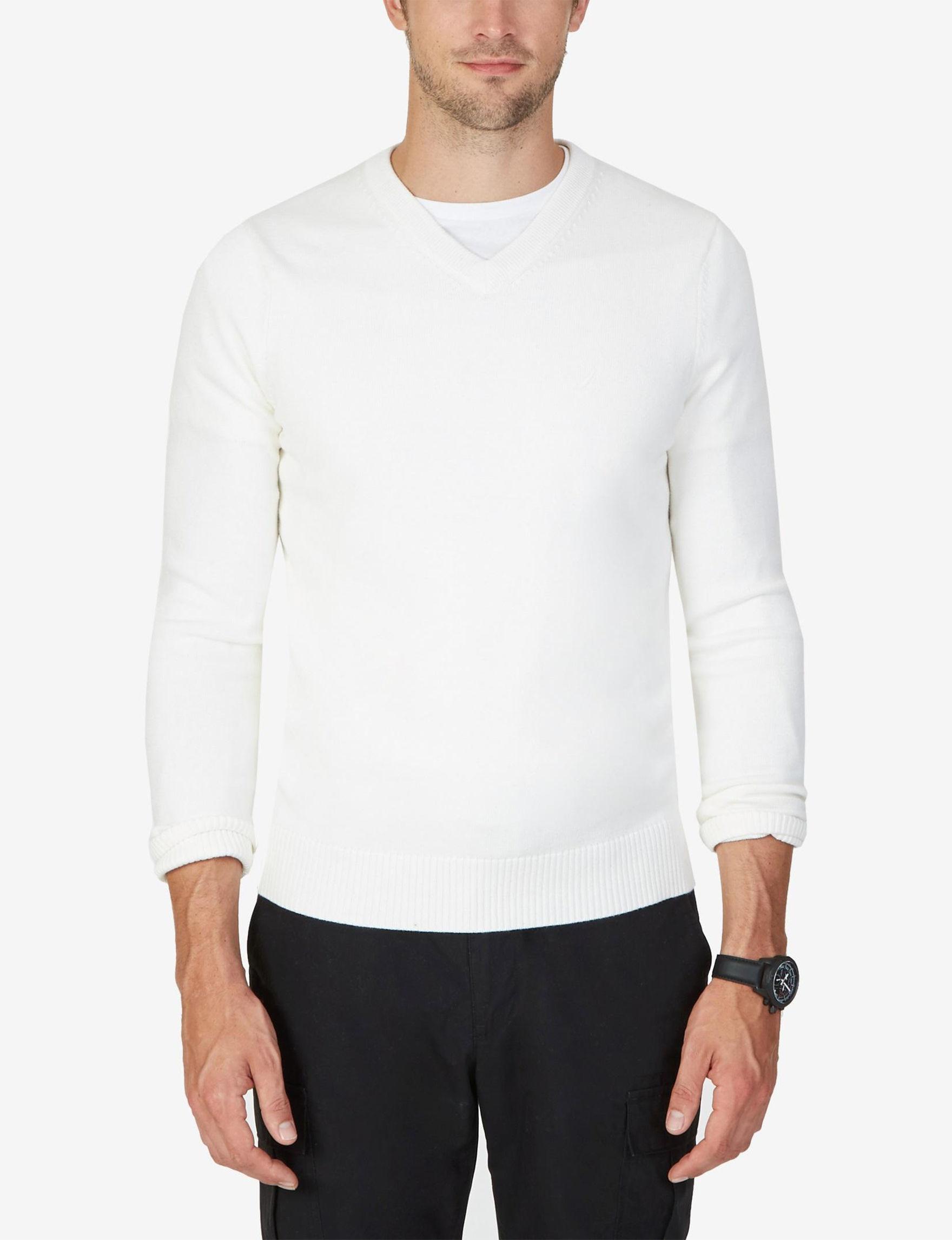 Nautica White Sweaters