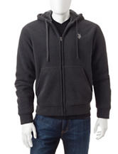 U.S. Polo Assn. Solid Color Sherpa Fleece Jacket