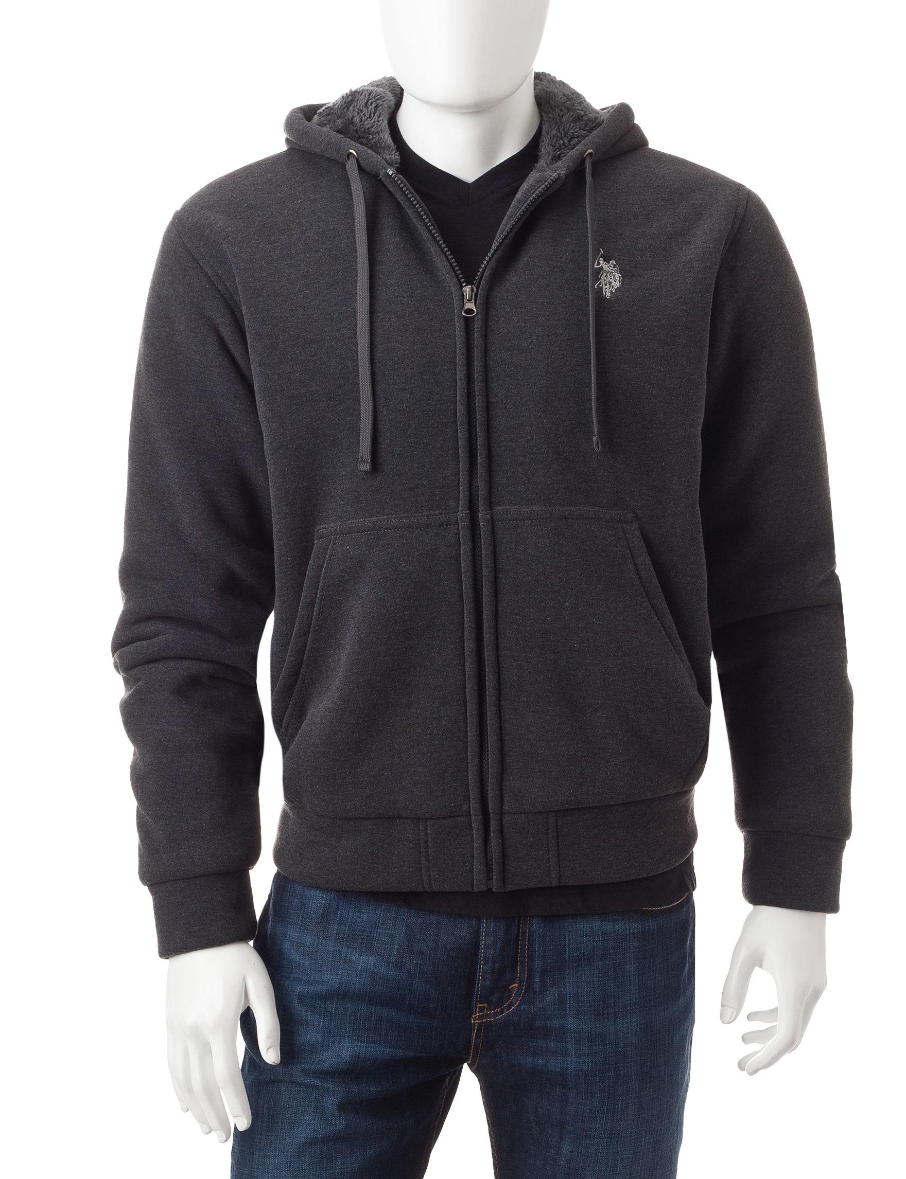 U.S. Polo Assn. Grey Lightweight Jackets & Blazers
