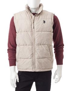 U.S. Polo Assn. Khaki Puffer & Quilted Jackets