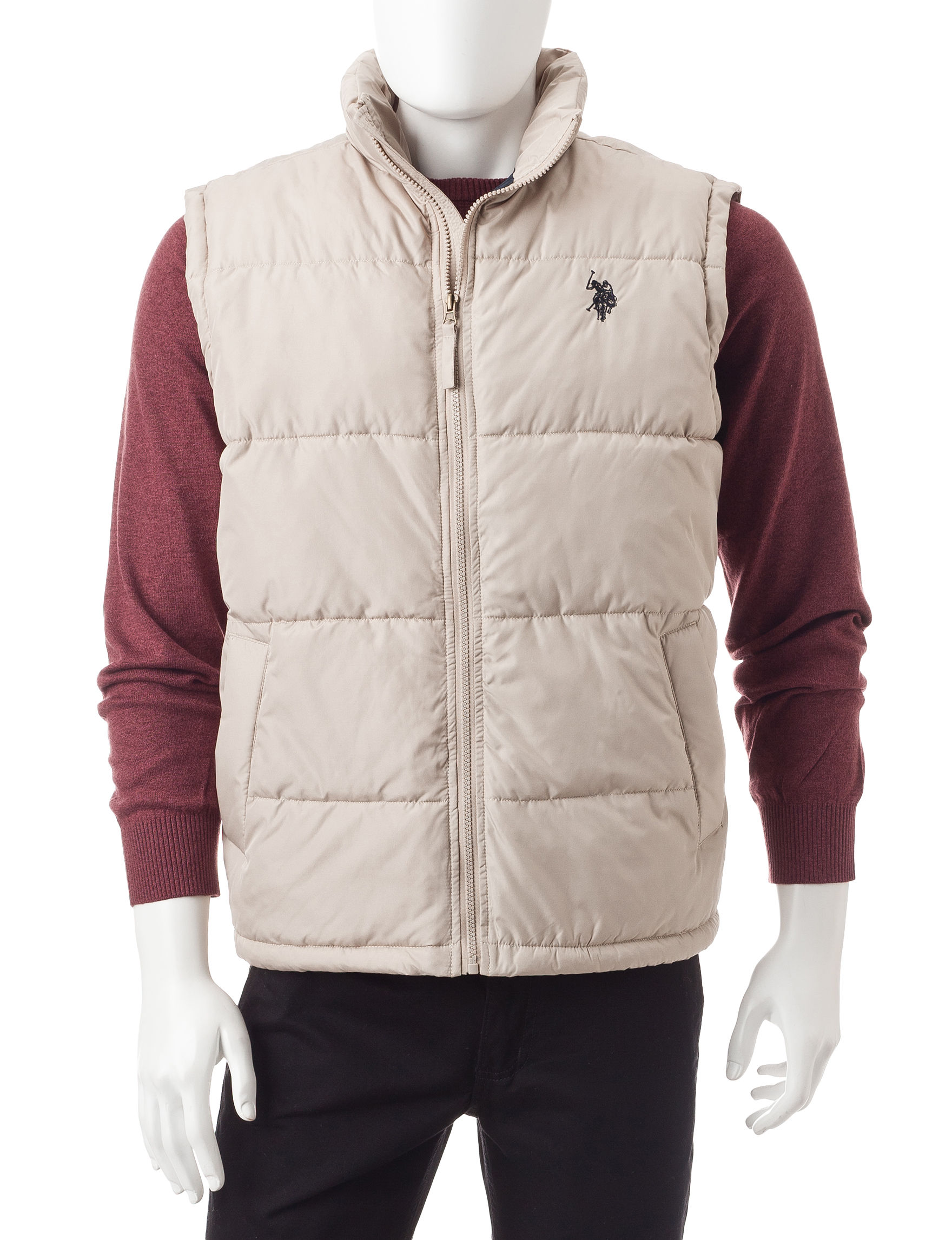 U.S. Polo Assn. Khaki Puffer & Quilted Jackets