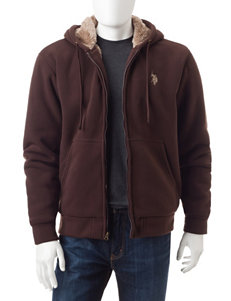 U.S. Polo Assn. Brown Lightweight Jackets & Blazers