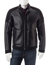 Michael Kors Ralph Shearling Faux Leather Jacket