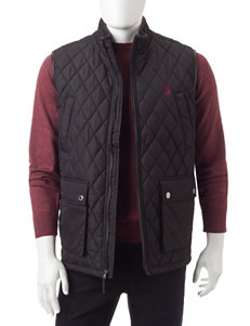 U.S. Polo Assn. Black Puffer & Quilted Jackets