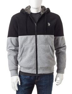 U.S. Polo Assn. Black Lightweight Jackets & Blazers