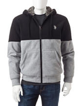U.S. Polo Assn. Color Block Sherpa Fleece Jacket