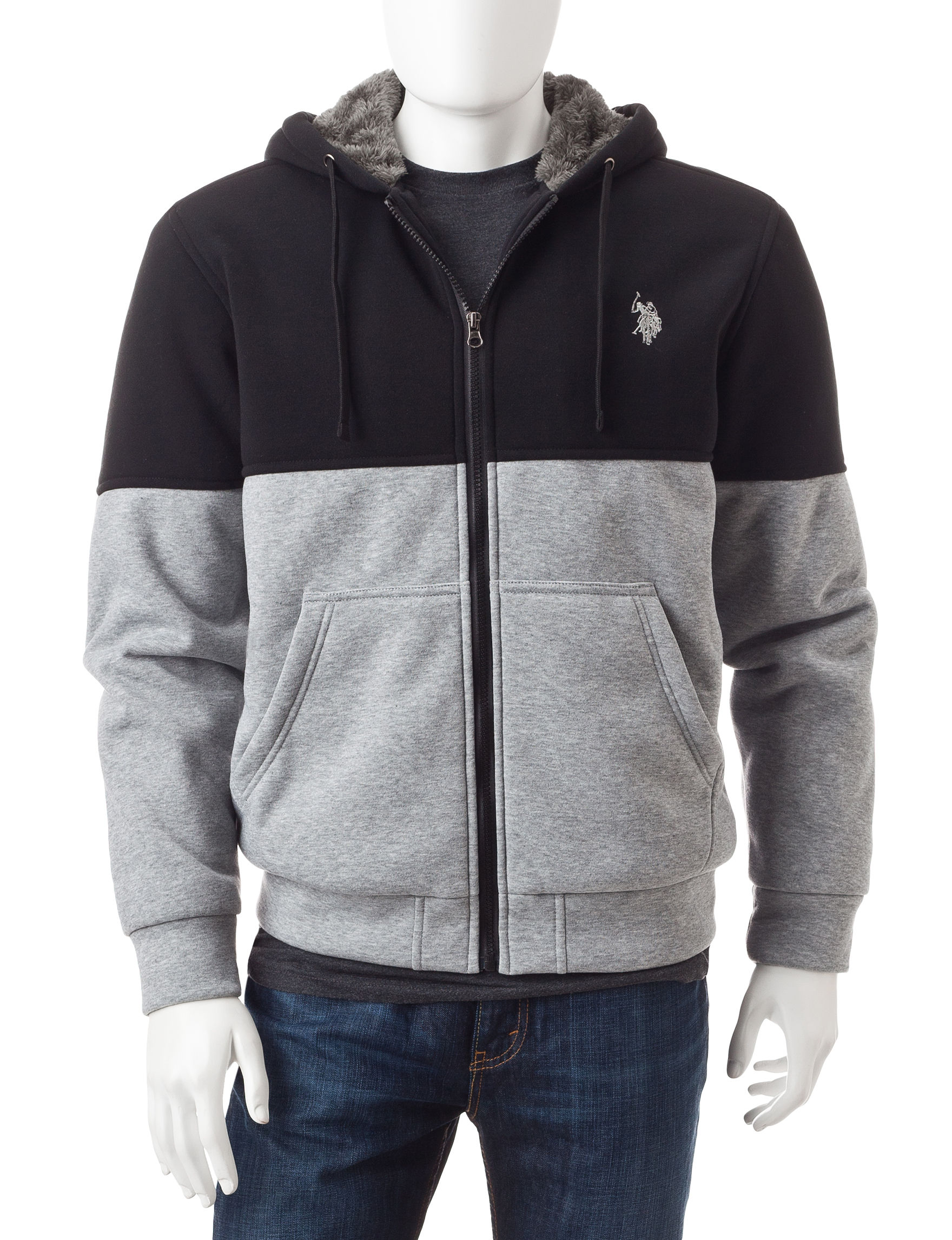 U.S. Polo Assn. Black Lightweight Jackets & Blazers