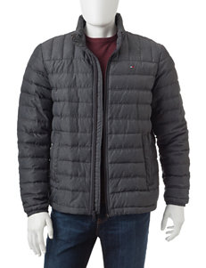 Tommy Hilfiger Charcoal Puffer & Quilted Jackets