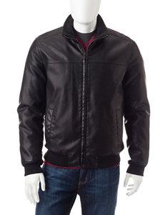 Tommy Hilfiger Faux Leather Bomber Jacket