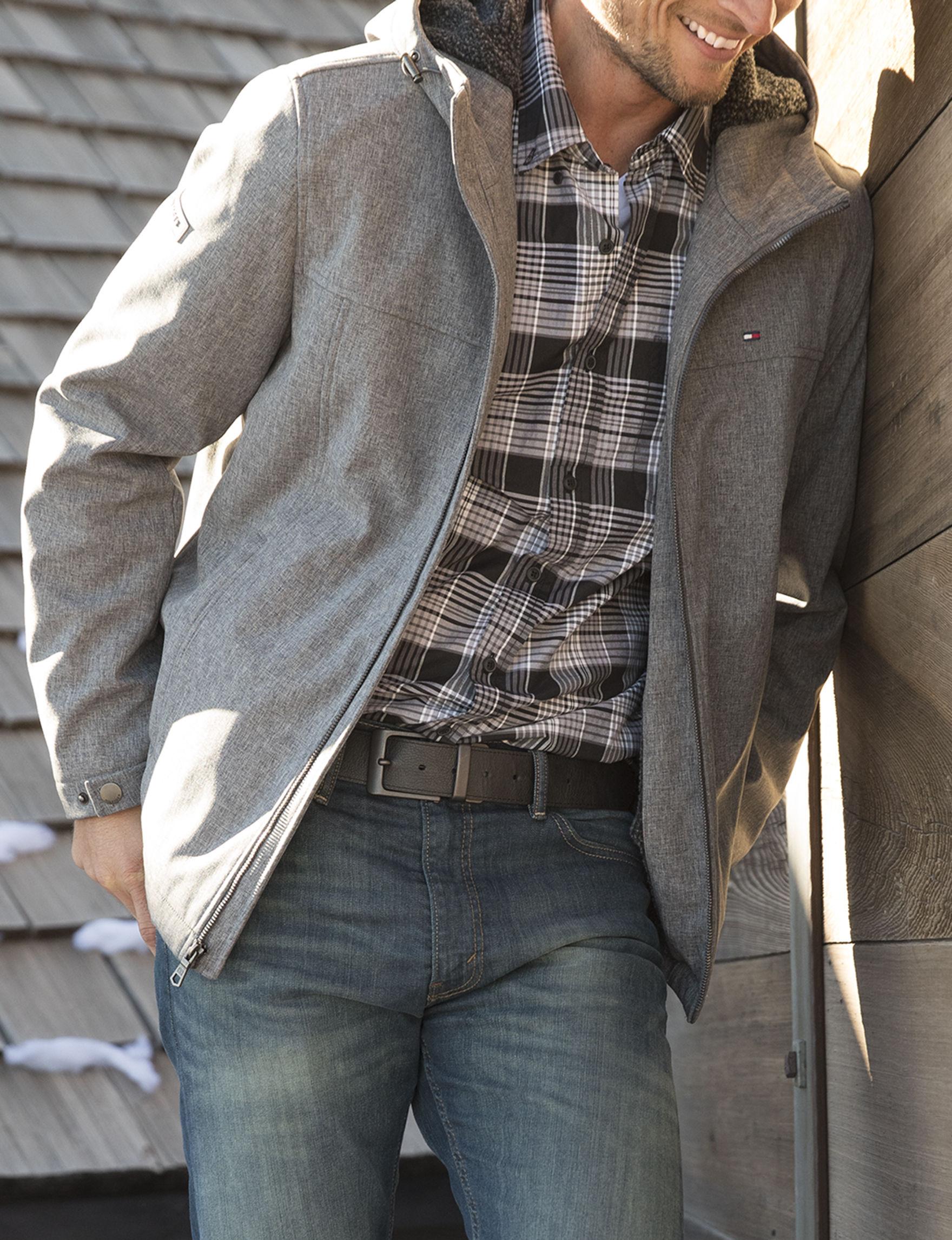 Tommy Hilfiger Grey Lightweight Jackets & Blazers