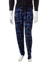Ivy Crew Blue Camouflage Print Sleep Pants