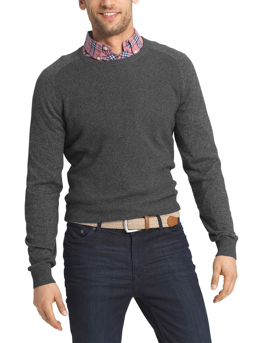 Izod Black Sweaters