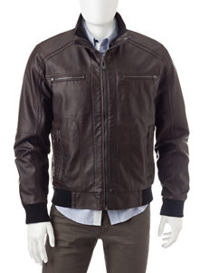 Calvin Klein Brown Bomber & Moto Jackets