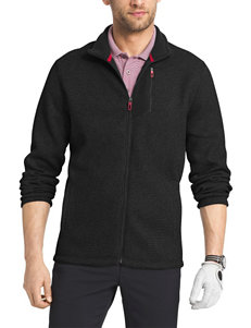 Izod Black Heather Lightweight Jackets & Blazers