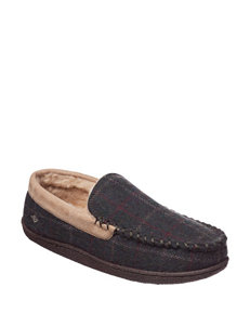 Dockers Moccasin Plaid Slippers