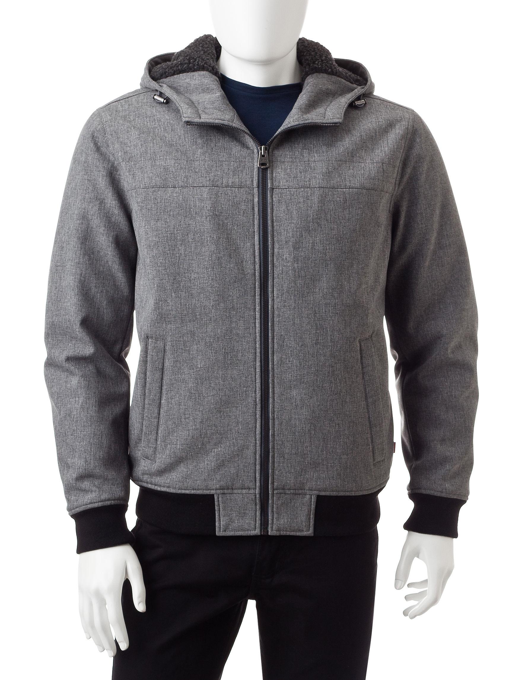 Levi's Heather Grey Lightweight Jackets & Blazers
